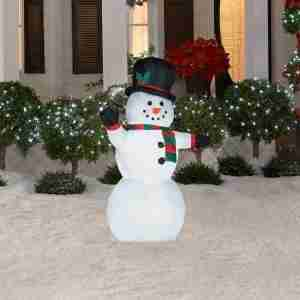 Outdoor light up snowman holiday d cor season charm for Outdoor light up ornaments