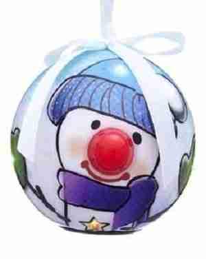 Blue Snowman Christmas Ornament