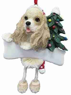 Cocker Spaniel Dangling Legs Ornament Pet Dog Holiday Christmas Tree Decoration