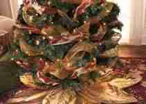 Gold Christmas Tree Skirt