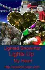 Lighted Outdoor Snowman Decorations
