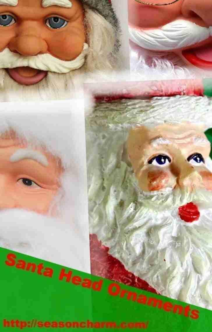 Santa Head Ornaments
