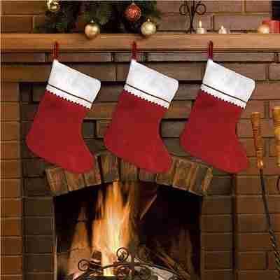 Red Felt 15 Inch Christmas Stockings