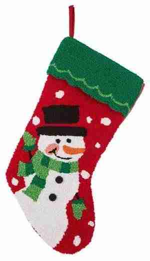 19 Inch L Hooked Stocking, Snowman