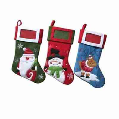 Cotton Christmas Stockings New 15 Inches Long Snow White