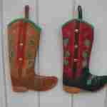 Personalized Cowboy Boot Christmas Stocking