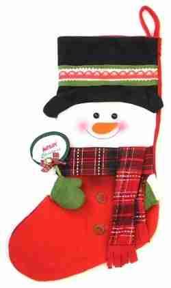 Felt Snowman Christmas stocking