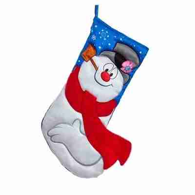 Frosty the Snowman Printed Applique Stocking