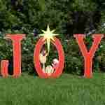 Joy Nativity Printed Yard Scene