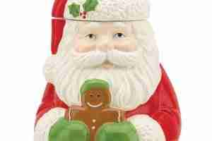 Holiday Cookie Jar Santa And Gingerbread Man