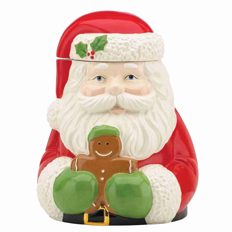 Holiday Cookie Jar Santa And Gingerbread Man