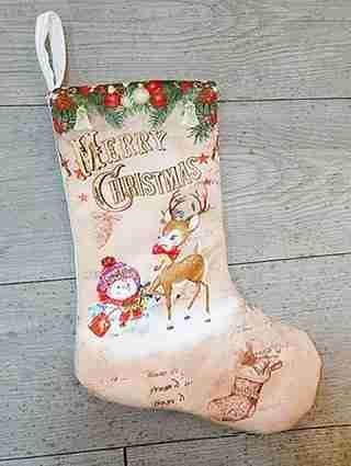 Merry Christmas Gift Stocking Decoration Reindeer
