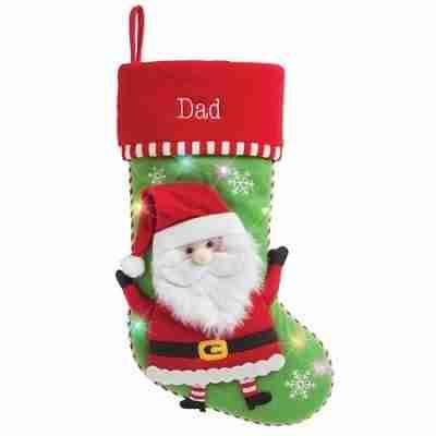 Personalized LED Light Up Christmas Stocking