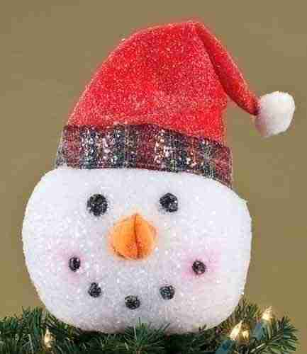 Snowman Head Tree Topper