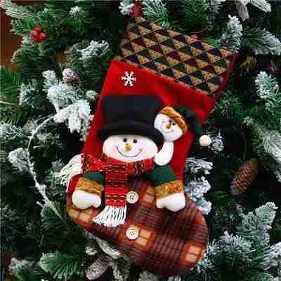 Traditional Christmas Stocking Snowman