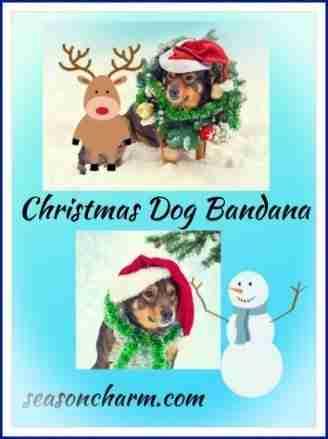 Christmas Bandana For Dogs
