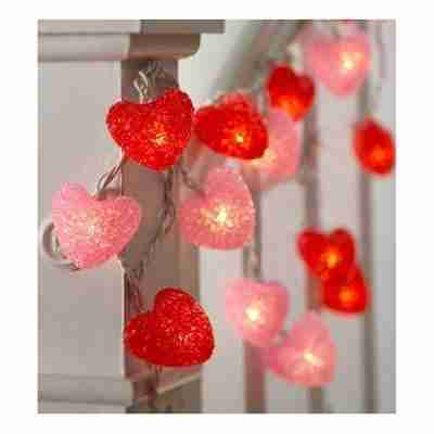 Heart-Shaped String Lights