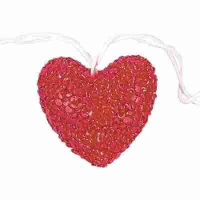 Red Heart Patio String Lights, 6-Feet