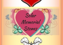 Solar Lighted Memorial Garden Stones