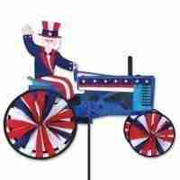 Uncle Sam Tractor Spinner Lawn Decor