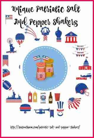 Unique American Patriotic Salt And Pepper Shakers Decor