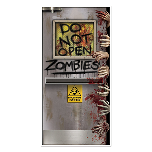 Beistle Zombies Lab Door Cover