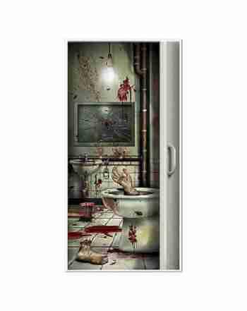 Bloody Bathroom Door Cover