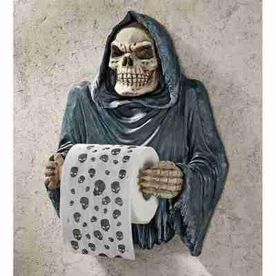 Grim Reaper Gothic Toilet Paper Holder