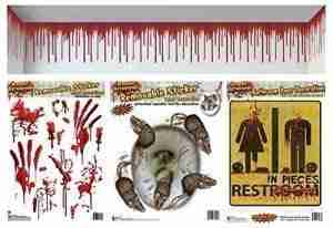 Halloween Bloody Peel 'N Place Bathroom Decoration Set (4 count)