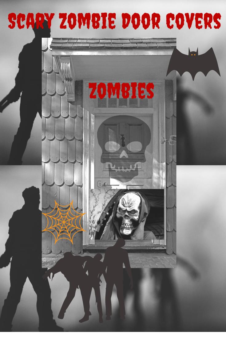 Spooky Zombie Halloween Door Covers