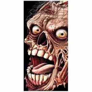 Zombie Face Door Cover Halloween Decoration