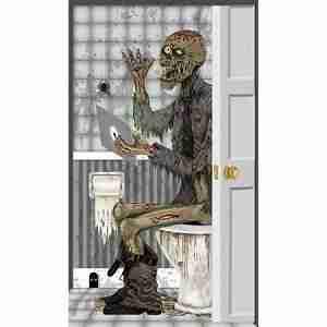 Zombie Toilet Door Cover Halloween Decoration