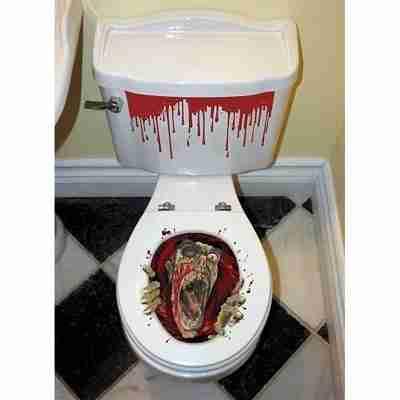 Zombie Toilet Seat Grabber Decoration
