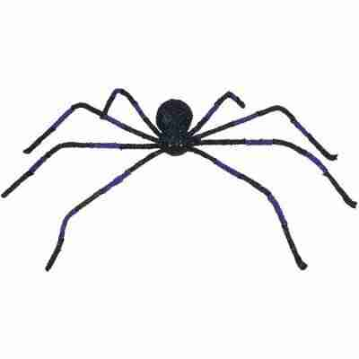 30 Inch Big Spider with Light Up Eyes Halloween Decoration Prop, Black Purple