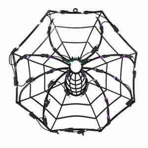 35 Lights 18 Inch LED Outdoor Window Spider Web Decor