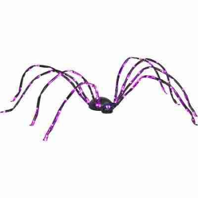 8 ft Long Lighted Purple Halloween Spider