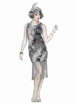 Adult Ghostly Flapper Adult Costume
