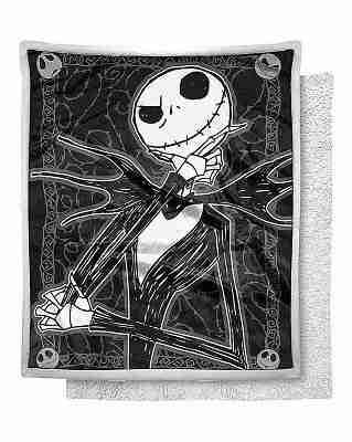 Dark Cover Jack Skellington Fleece Blanket