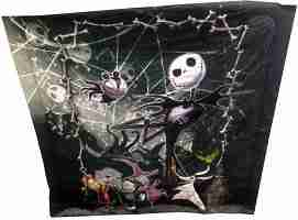 Disney Nightmare Before Christmas Full- Queen Comforter with Jack Skellington Lock Shock and Barrel