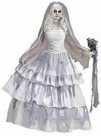 Forum Novelties Women's Deluxe Victorian Ghost Bride Costume