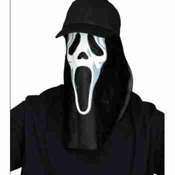 Ghost Face Creature Cap Scream 4 Halloween Costume Accessory Adult