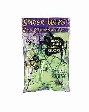 Glow in the Dark Superstretch Spiderweb