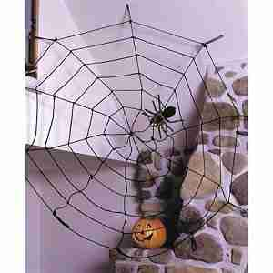 Halloween Spider Web Rope, Black