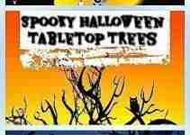 scary halloween-tabletop-trees-with-lights