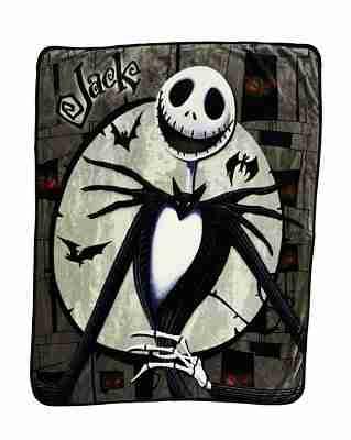 Jack and Sally Reversible Fleece Blanket