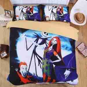 Nightmare Before Christmas 4PCs Bedding Set Duvet Cover Bedspread Pillowcases