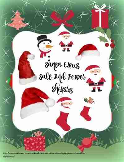 Santa Claus Ceramic Salt And Pepper Shakers For Christmas