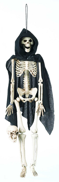 Skeleton Grim Reaper Halloween Decoration - Hanging Skelton Decoration (16 Inch)