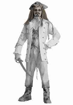 Men's Ghost Captain Pirate Costume