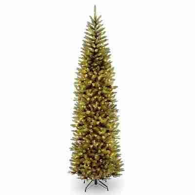 10 ft. Kingswood Fir Pencil Tree with Clear Lights